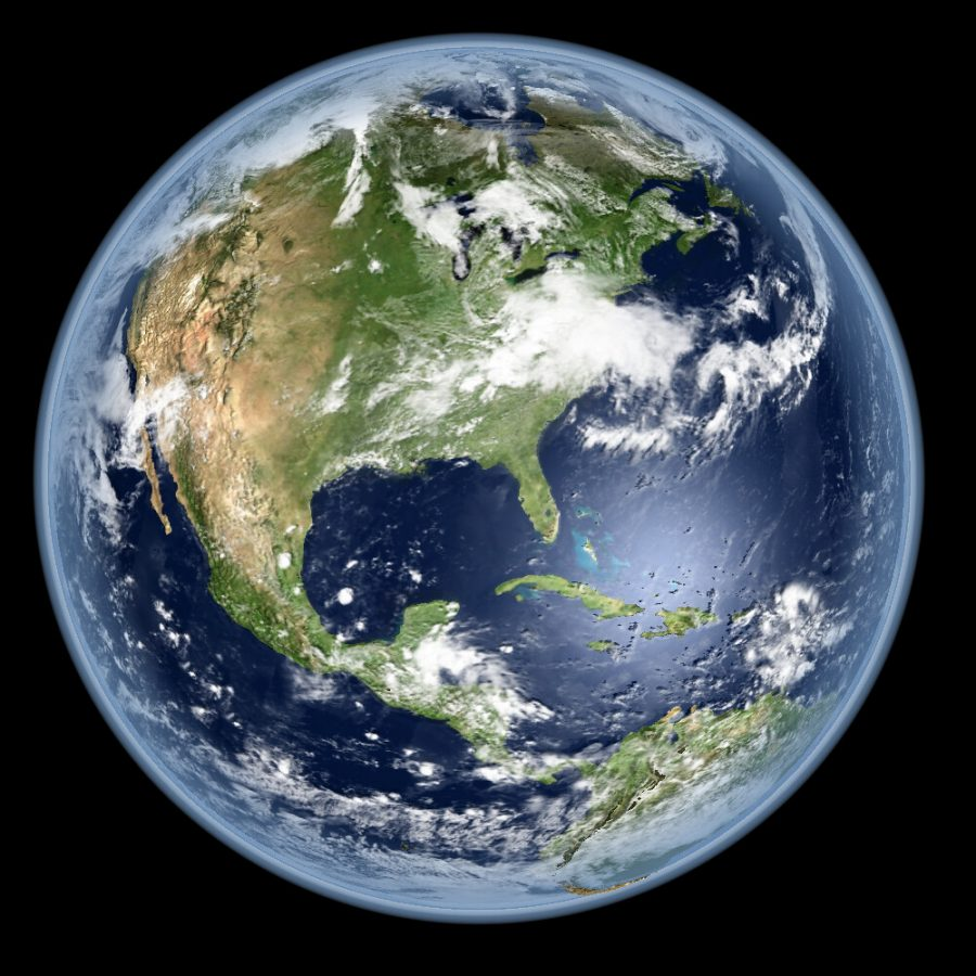 Satellite picture of the earth.